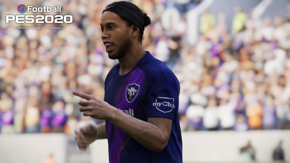 Ronaldinho em PES 2020 — Foto: Divulgação