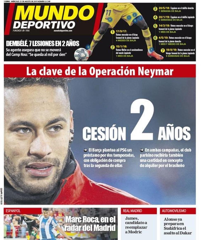 Jornal: PSG recusa primeira oferta do Barça, que tentará empréstimo de Neymar por dois anos