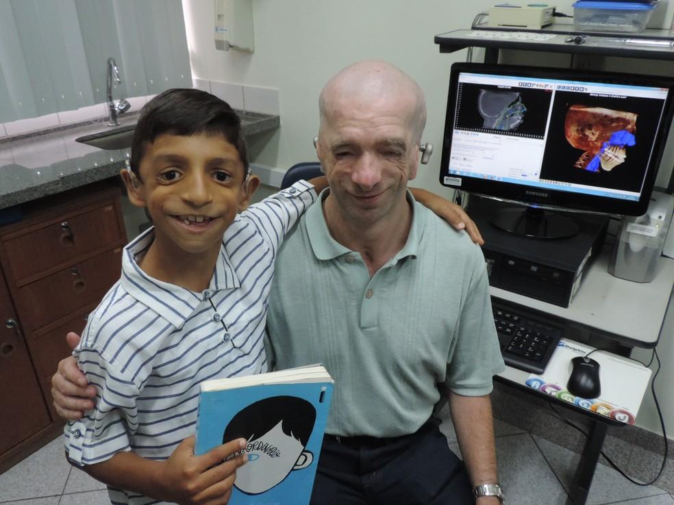 Gabriel conheceu o autor do prefácio do livro