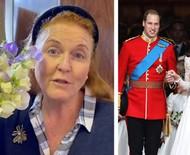"""Ex-esposa de príncipe Andrew viajou para """"se curar"""" após ser excluída de casamento de William e Kate"""