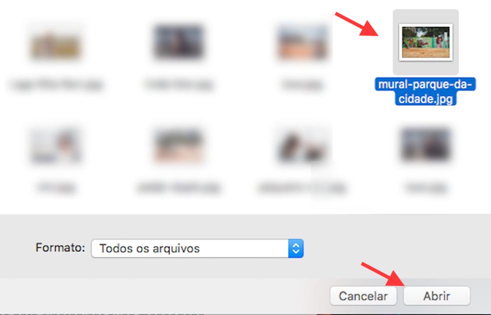 Opção para realizar o upload de uma imagem personalizada como papel de parede no WhatsApp Web (Foto: Reprodução/Marvin Costa)