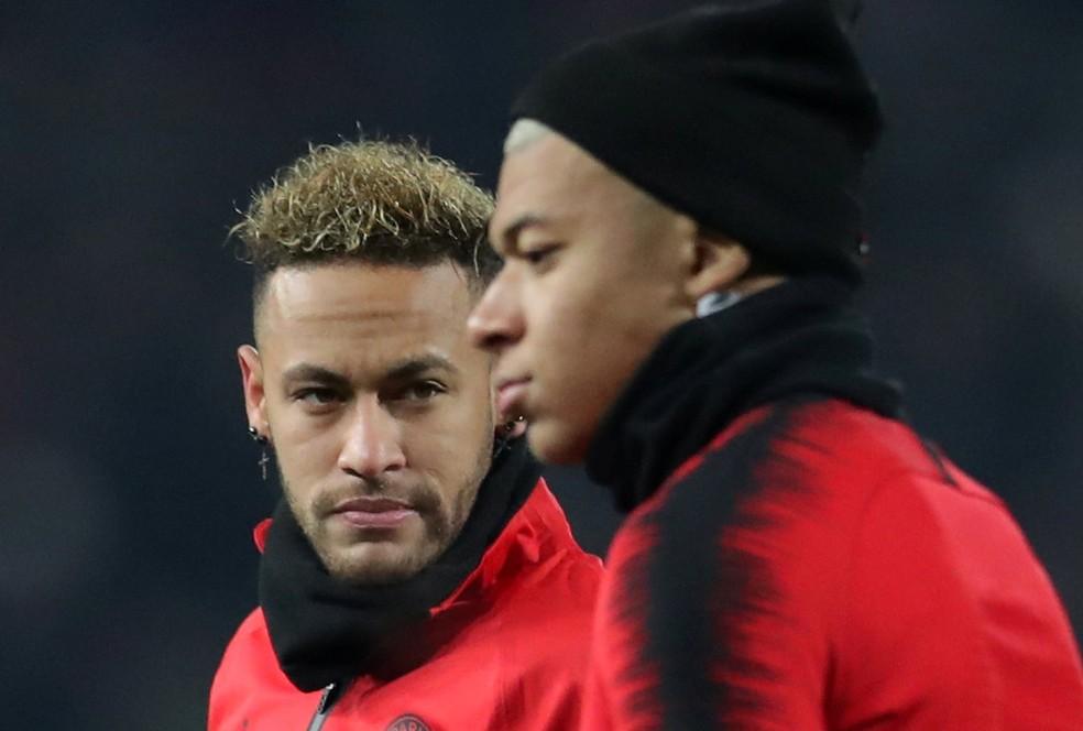 Neymar e Mbappé podem ficar fora dos próximos Jogos Olímpicos — Foto: REUTERS/Marko Djurica