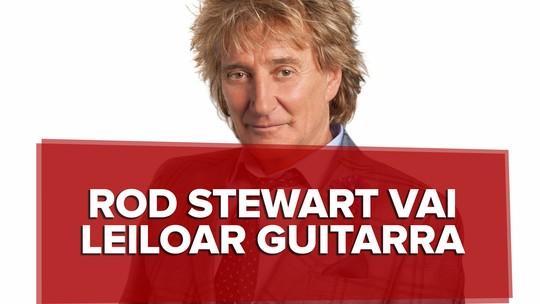 Rod Stewart vai leiloar guitarra autografada no Rock in Rio