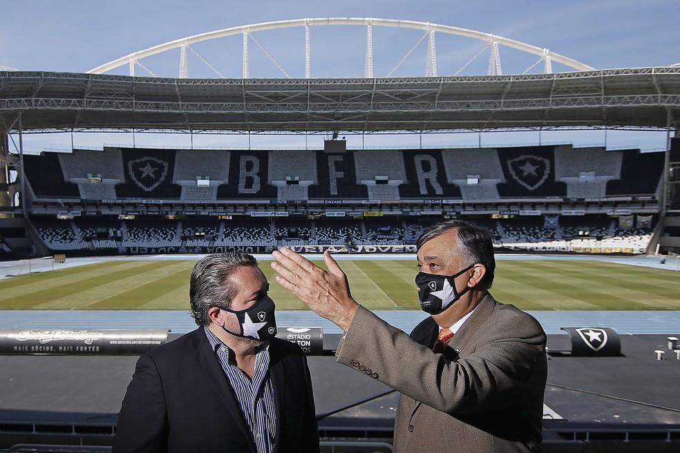 CEO Jorge Braga e presidente Durcesio Mello  — Foto: Vitor Silva/Botafogo