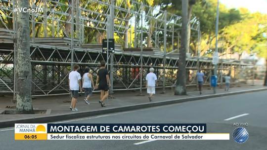 Sedur fiscaliza estruturas de camarotes nos circuitos do carnaval de Salvador