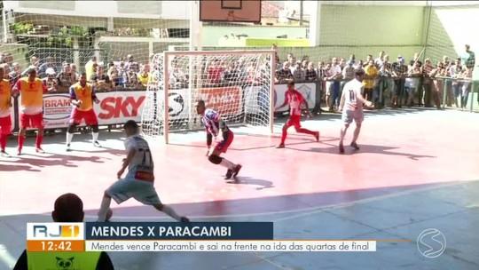 Mendes acelera no segundo tempo, marca três no finalzinho e goleia Paracambi por 6 a 0