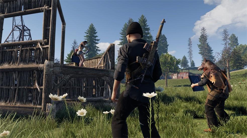 O aclamado game de sobrevivência Rust chega aos consoles com seu multiplayer hostil e desafiador — Foto: Reprodução/Microsoft
