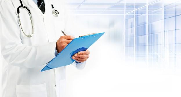 Plano de saúde, médico, prancheta, hospital, enfermeiro, laboratório
