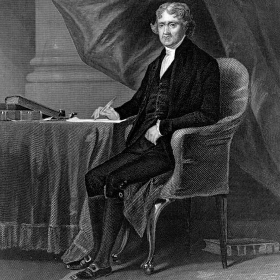Thomas Jefferson previa que a ocupação francesa de Louisiana levaria a conflitos nos EUA — Foto: Getty Images/BBC