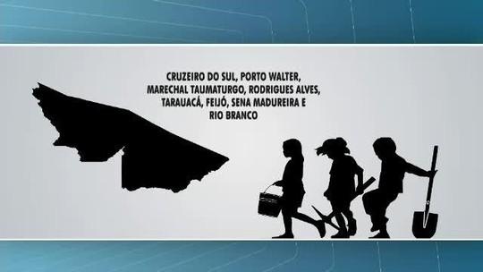 Oito cidades do Acre lideram ranking de trabalho infantil no estado, aponta Ipea