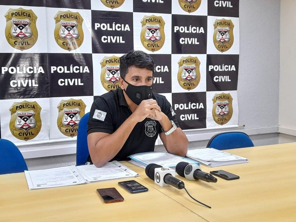Delegado Vinícius Lucena, em Porto Velho — Foto: João Antônio Alves/CBN
