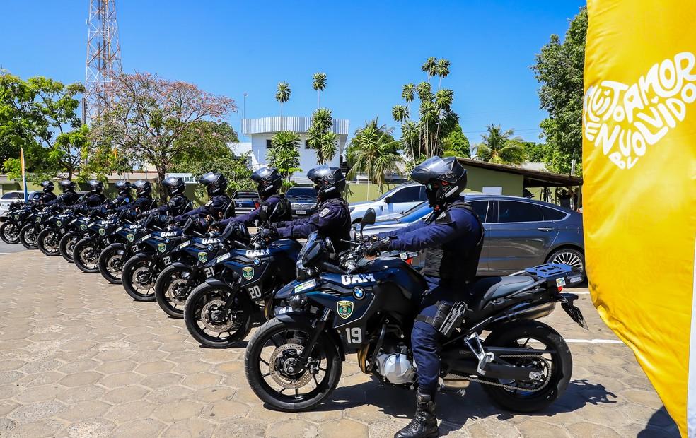 Motos BMW adquiridas pela Guarda Civil Municipal de Boa Vista — Foto: Divulgação/Prefeitura de Boa Vista