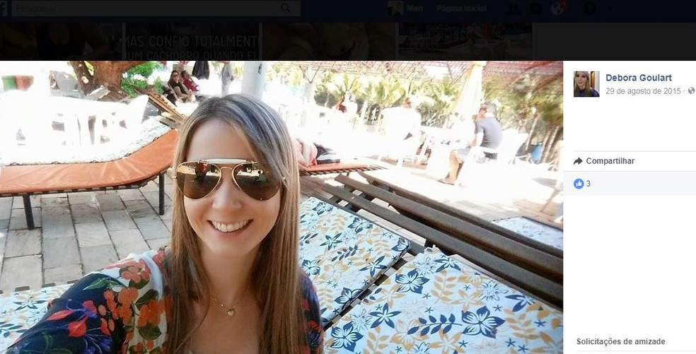 Débora foi morta a facadas em Tupã  (Foto: Reprodução/ Facebook )