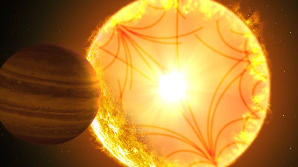 Concepção artística do sistema do Kepler-1658b (Foto: Gabriel Perez Diaz/Instituto de Astrofísica de Canarias)