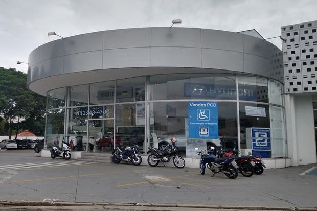 Concessionária Hyundai Fechada (Foto: Ulisses Cavalcante/Autoesporte)