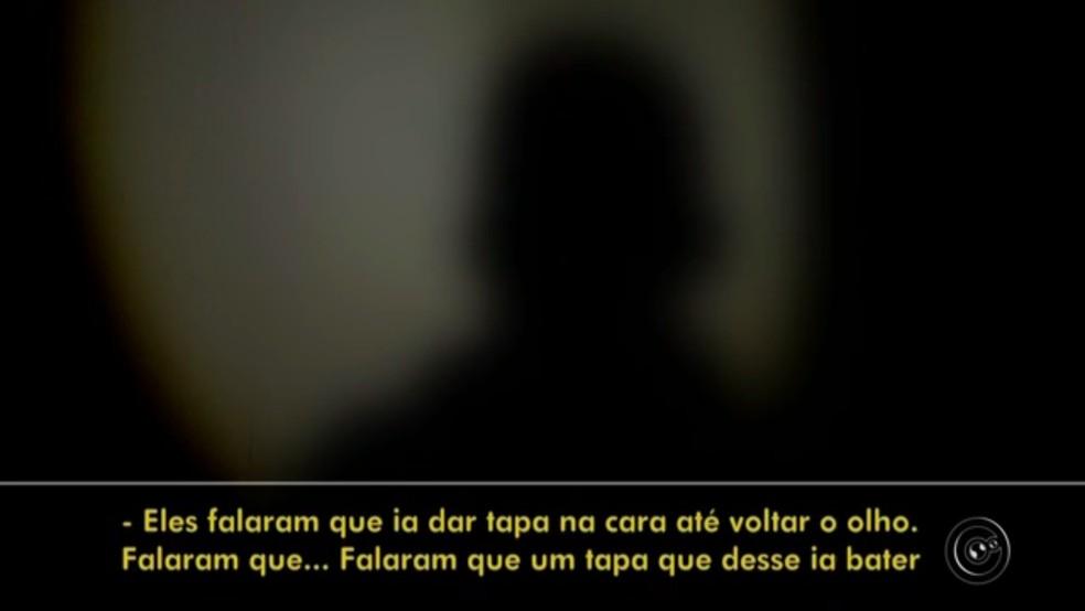 Adolescente abordado por PMs relatou ameaças em Cerquilho (Foto: Reprodução/TV TEM)