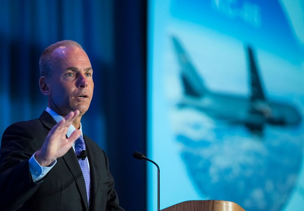 Dennis Muilenburg, da Boeing (Foto: Stephen Brashear/Getty Images)