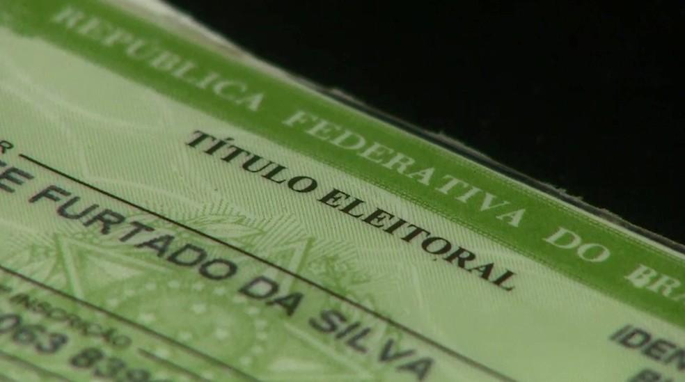 Título eleitoral no Amapá — Foto: Reprodução/Rede Amazônica