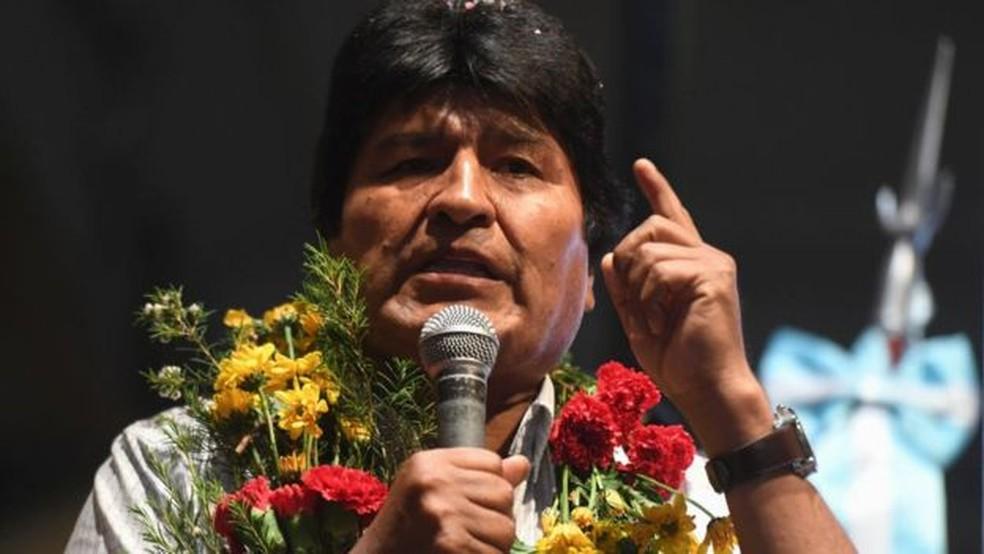 Evo Morales vai disputar seu quarto mandato consecutivo — Foto: Getty Images