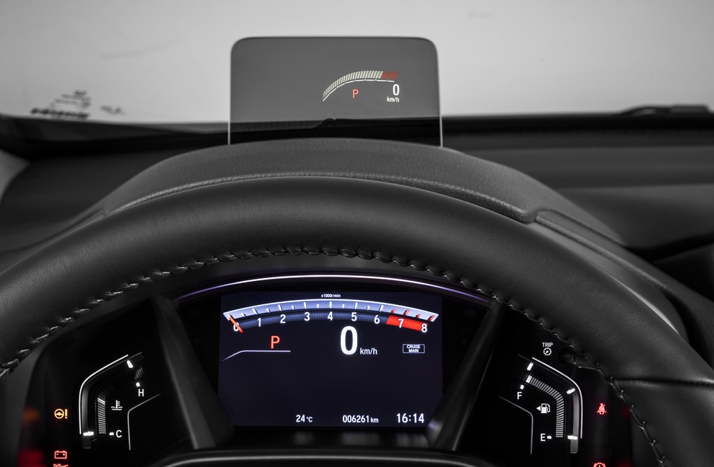 Head-up display do Honda CR-V 2018 (Foto: Honda/Divulgação)