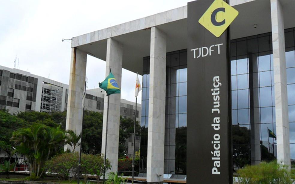 Fachada de anexo do Tribunal de Justiça do Distrito Federal — Foto: Raquel Morais/G1
