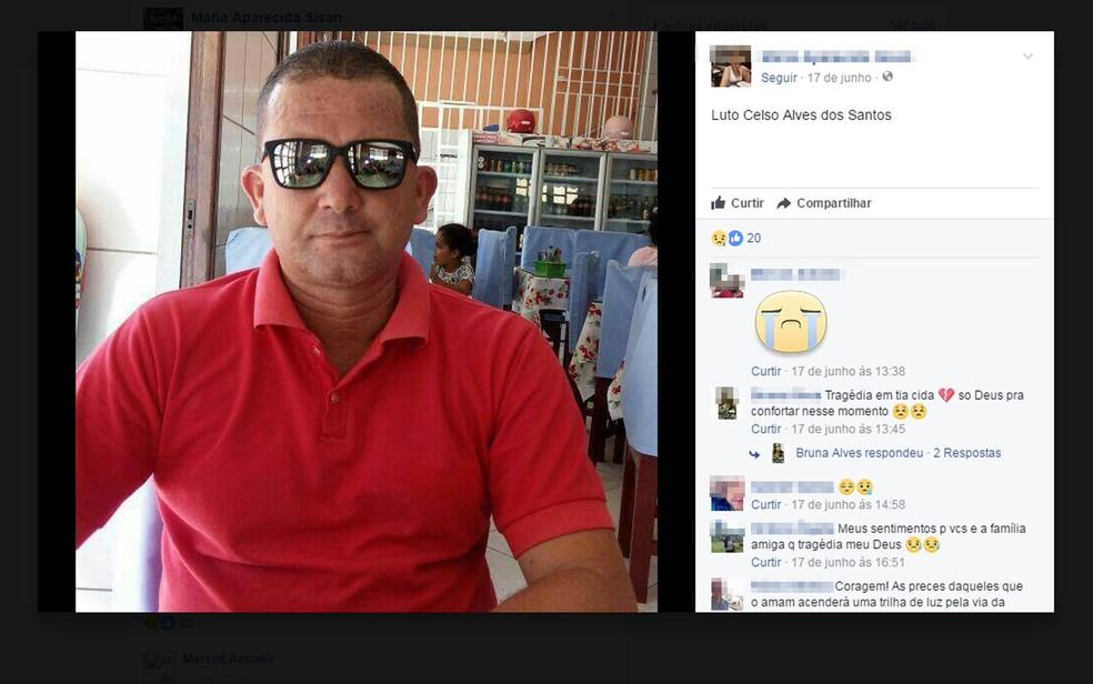 Homem morreu após comer doce, na cidade de Saúde, norte da Bahia — Foto: Reprodução/ Facebook