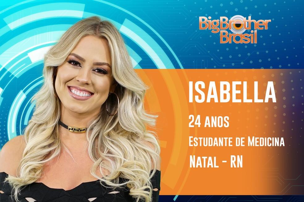 Isabella, de 24 anos, já foi Miss Rio Grande do Norte — Foto: TV Globo