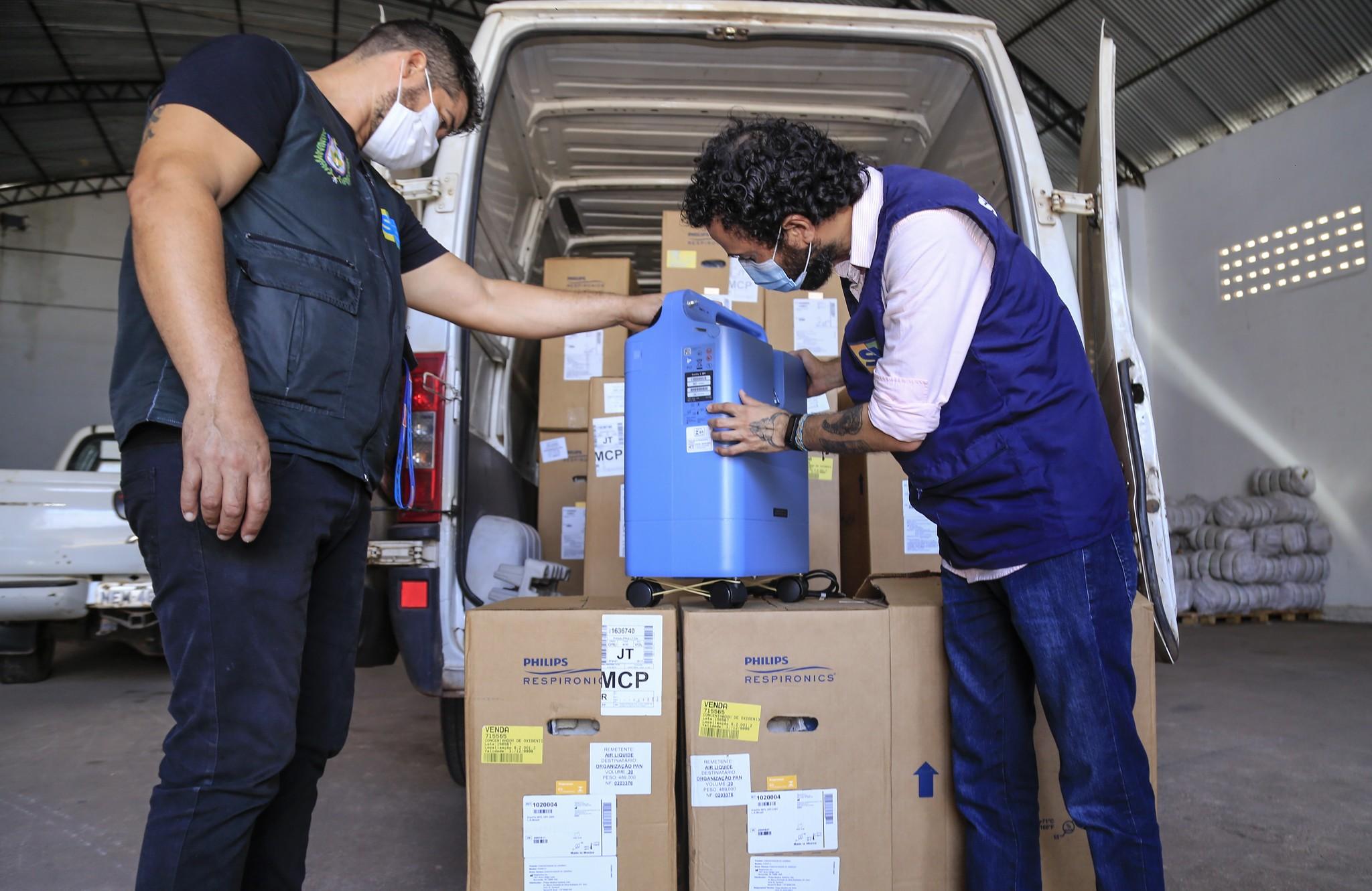 Reforço para sistema de oxigênio, Amapá recebe 30 concentradores para atender pacientes com Covid