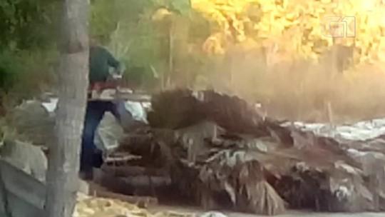 Trabalhadores rurais têm casas derrubadas por motosserras em conflito por terra