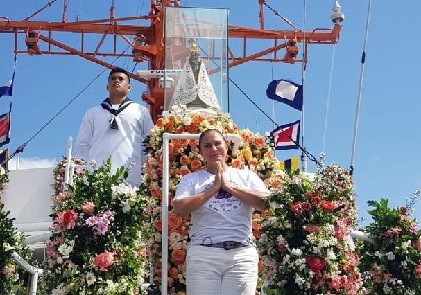 Fafá de Belém na festa religiosa Círio de Nazaré (Foto: Reprodução / Instagram)