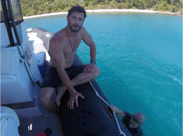 Foto de Chris Hemsworth em suas férias na Austrália (Foto: Reprodução instagram)