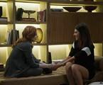 Bia Arantes e Anaju Dorigon em cena como Valéria e Camila em 'Órfãos da terra' | Reprodução