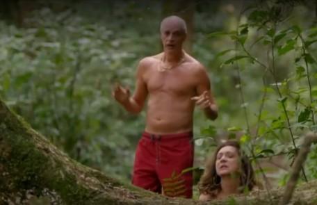 Intérprete de Leleco, Marcos Caruso tem como preferida a cena em que ele e Muricy (Eliane Giardini) têm uma recaída e transam no meio do mato, durante uma trilha em Cabo Frio Reprodução/TV Globo