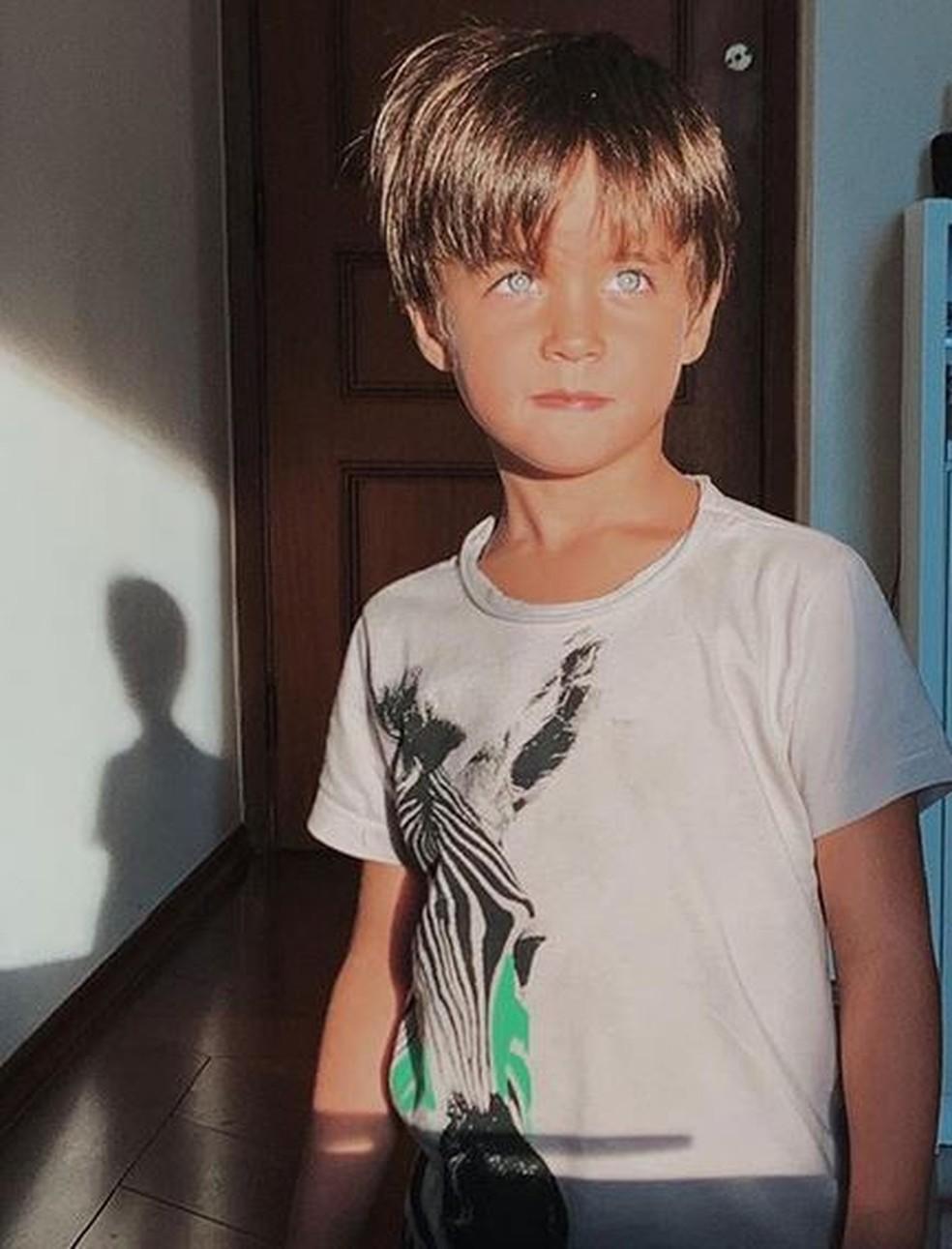 Paulo Ricardo publicou uma foto do seu filho, Luis Eduardo, nas redes sociais — Foto: Reprodução / Instagram