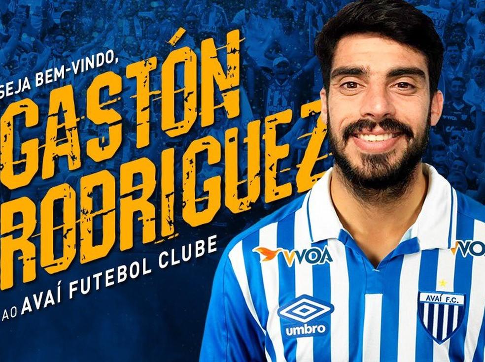 Jogador foi anunciado pelo Avaí neste sábado — Foto: Divulgação/ Avaí FC