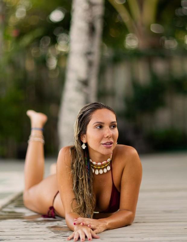 Carol Portaluppi na Bahia (Foto: Reprodução/Instagram/Matheus Bredoff)