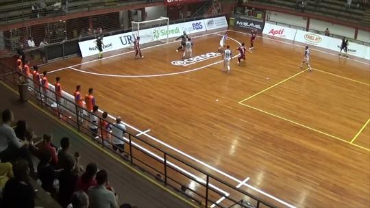 Atlântico vence o Uruguaianense pela Liga Gaúcha de Futsal