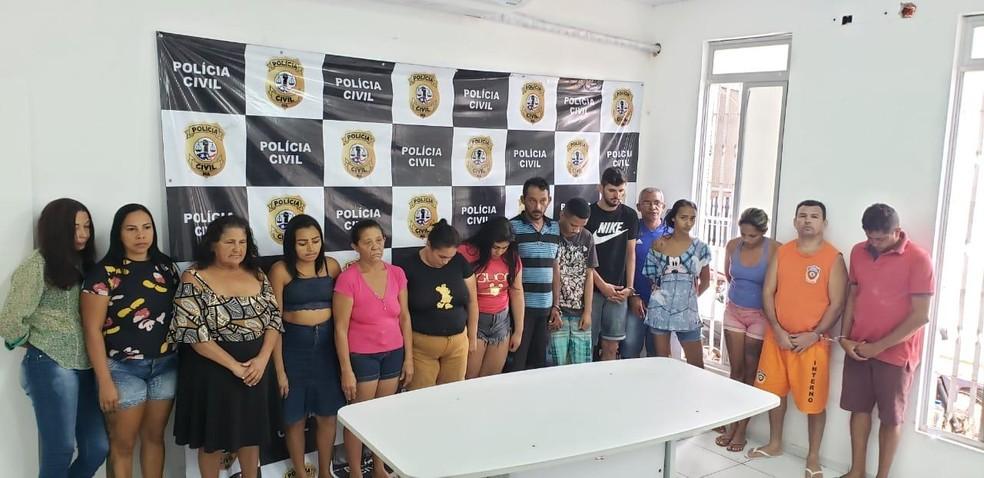 Polícia prendeu pessoas envolvidas com o tráfico de drogas em São Luís e Ribamar — Foto: Divulgação / Polícia Civil