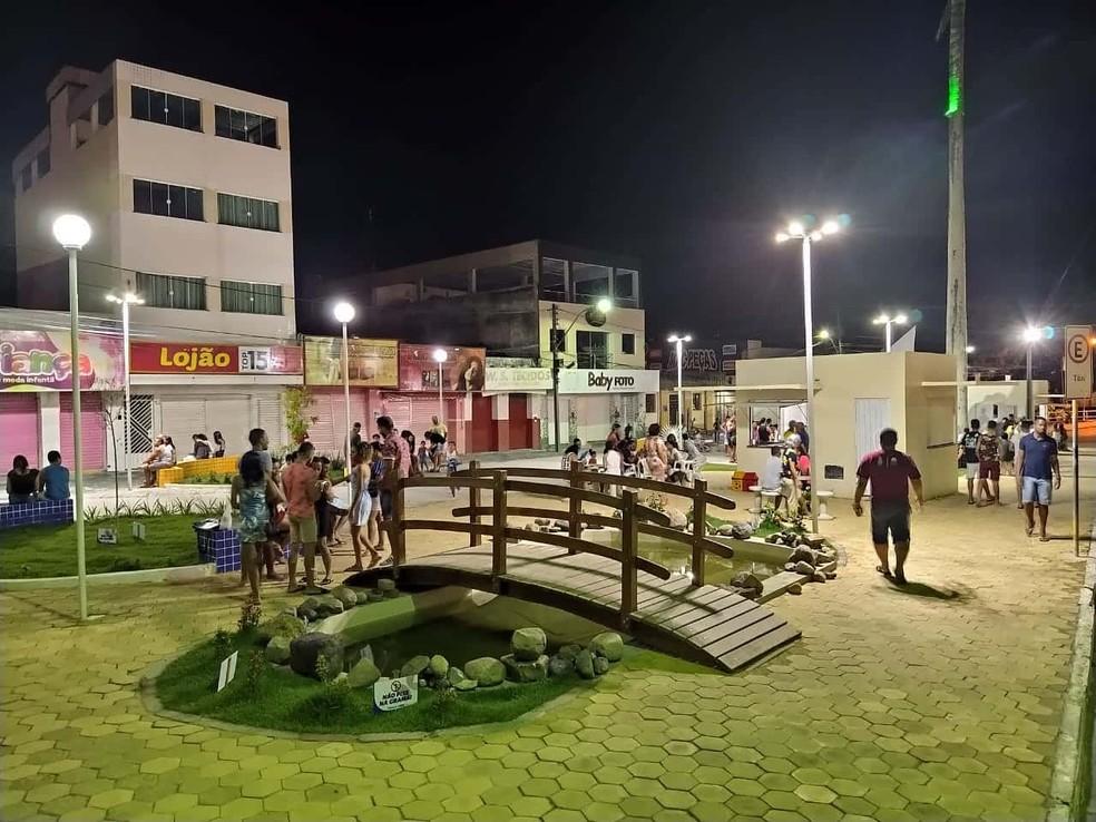 Praça de Coaraci, que tem 16.549 habitantes — Foto: Prefeitura de Coaraci