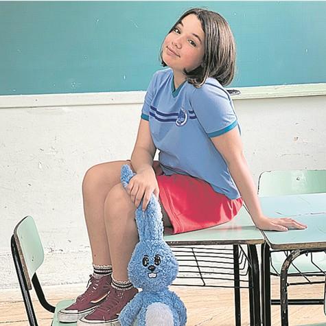Giulia Benite no set do novo filme da Turma da Mônica (Foto: Divulgação)