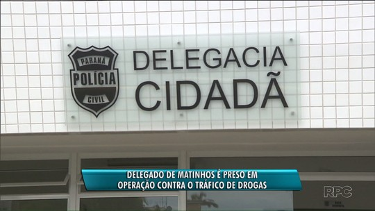 Delegado de Matinhos é preso por receber propina para liberar traficantes, diz MP