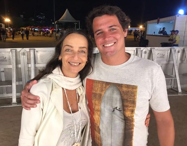 Felipe Dylon e a mãe, Maria Lúcia Priolli (Foto: QUEM)