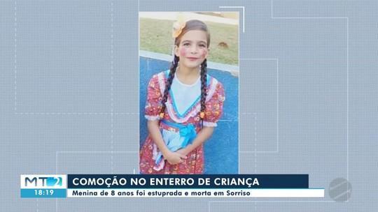 Menina de 8 anos, assassinada por vizinho, é enterrada em Sorriso