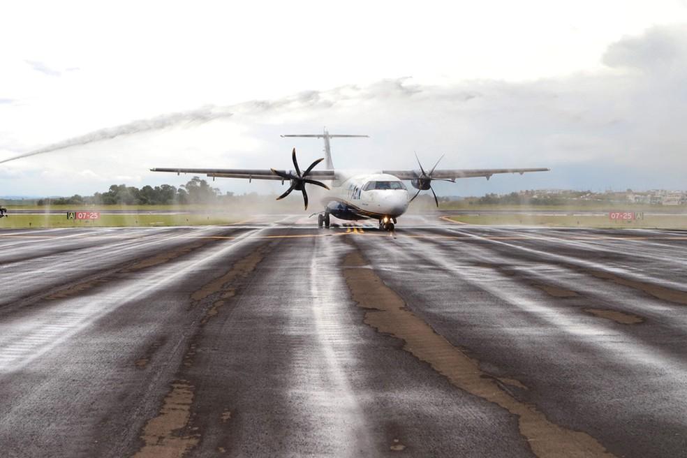 Azul iniciou a venda de passagens para Guarapuava — Foto: José Fernando Ogura/ANPr