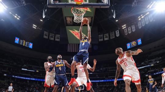 Nuggets contêm Harden e Westbrook, se impõem em casa e tomam a vice-liderança dos Rockets