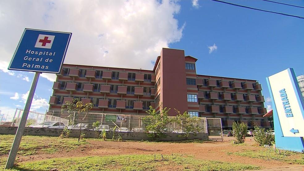Hospital Geral de Palmas é o maior hospital público do Tocantins — Foto: Reprodução/TV Anhanguera
