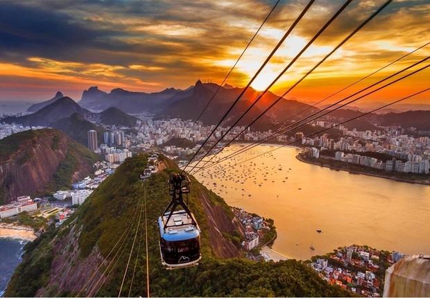 Bondinho do Pão de Açúcar no Rio de Janeiro ; Morro da Urca no Rio ; turismo ;  (Foto: Thinkstock)
