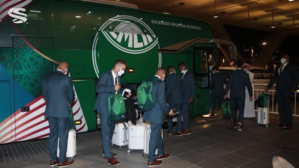 Palmeiras chegou a Doha na última quarta-feira — Foto: Supreme Committee