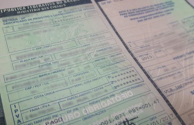 Certificado de Registro e Licenciamento de Veículo (Foto: Autoesporte)