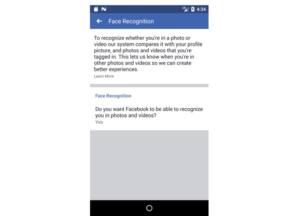 Facebook muda configurações de reconhecimento facial em fotos (Foto: Reprodução/Facebook)